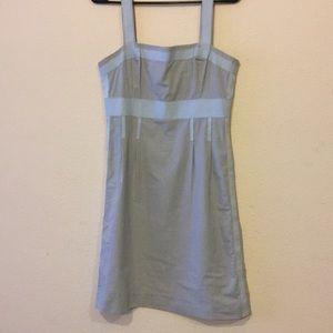 Tory Burch Blue Gingham Dress S 6 w Grosgrain